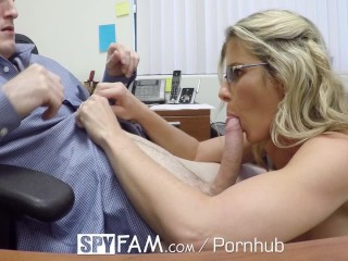Busty Mom Gets Fucked in the Office - Free Porn