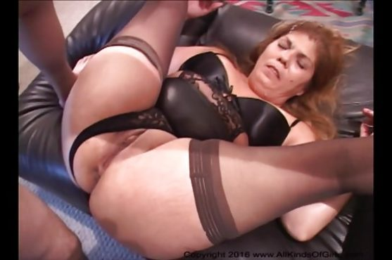 Mexican granny gets butt fucked